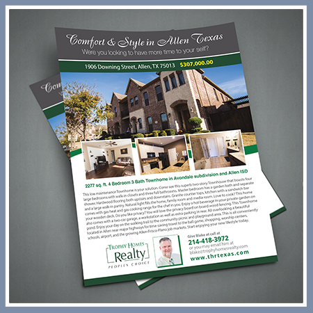 Trophy Homes Realty Flyer
